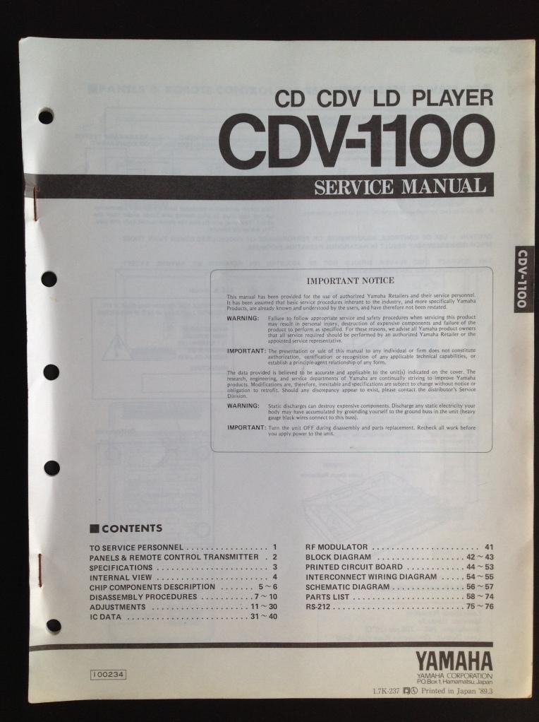 CDV_Service_Manual