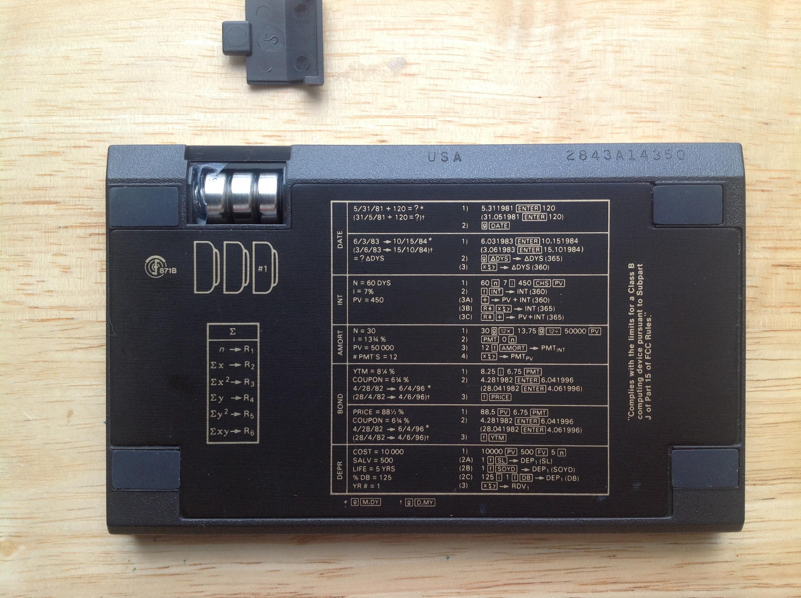hp12c classic 42 serial number